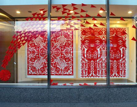 婚纱店橱窗设计图手绘展示